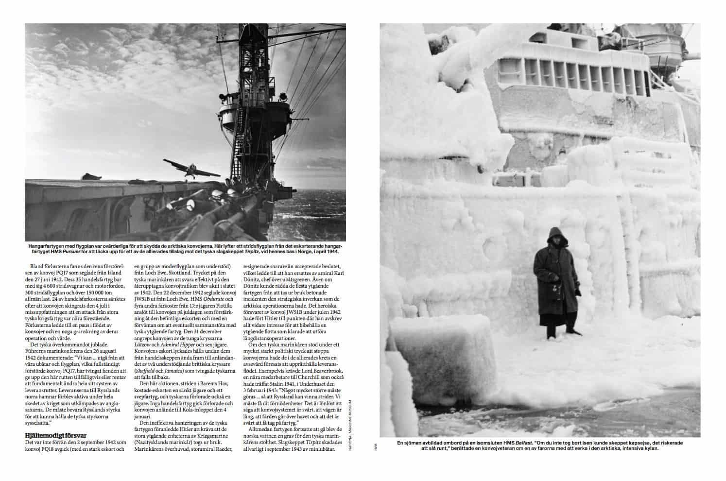 De arktiska konvojerna, uppslag