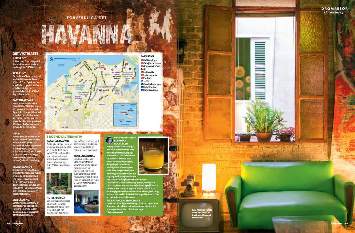 Havanna, uppslag
