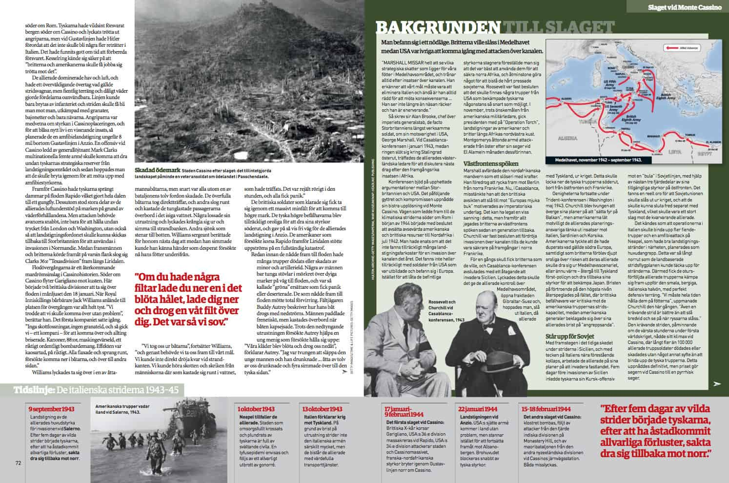 Monte Cassino, uppslag