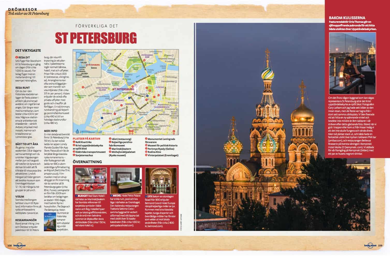 St Petersburg, uppslag