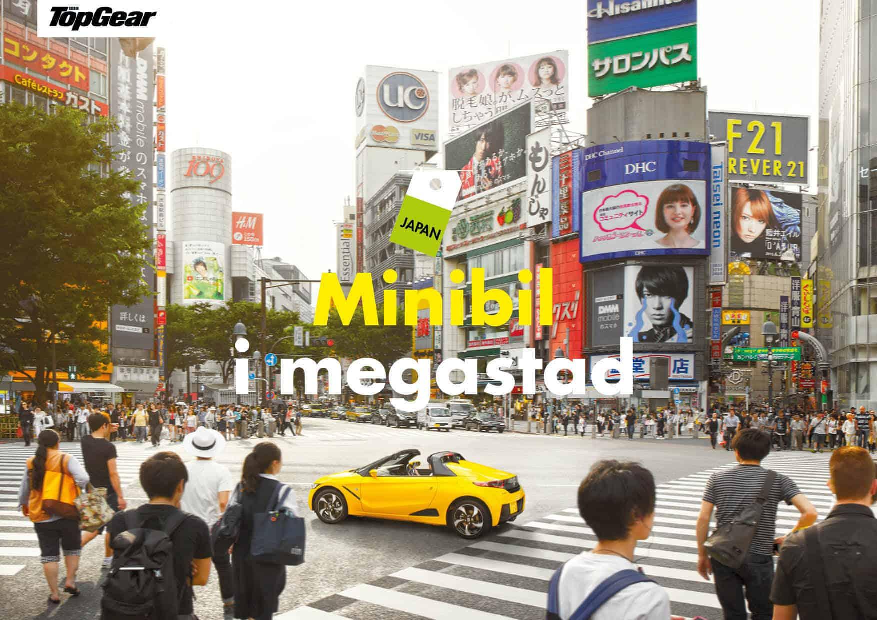 Minibil i megastad