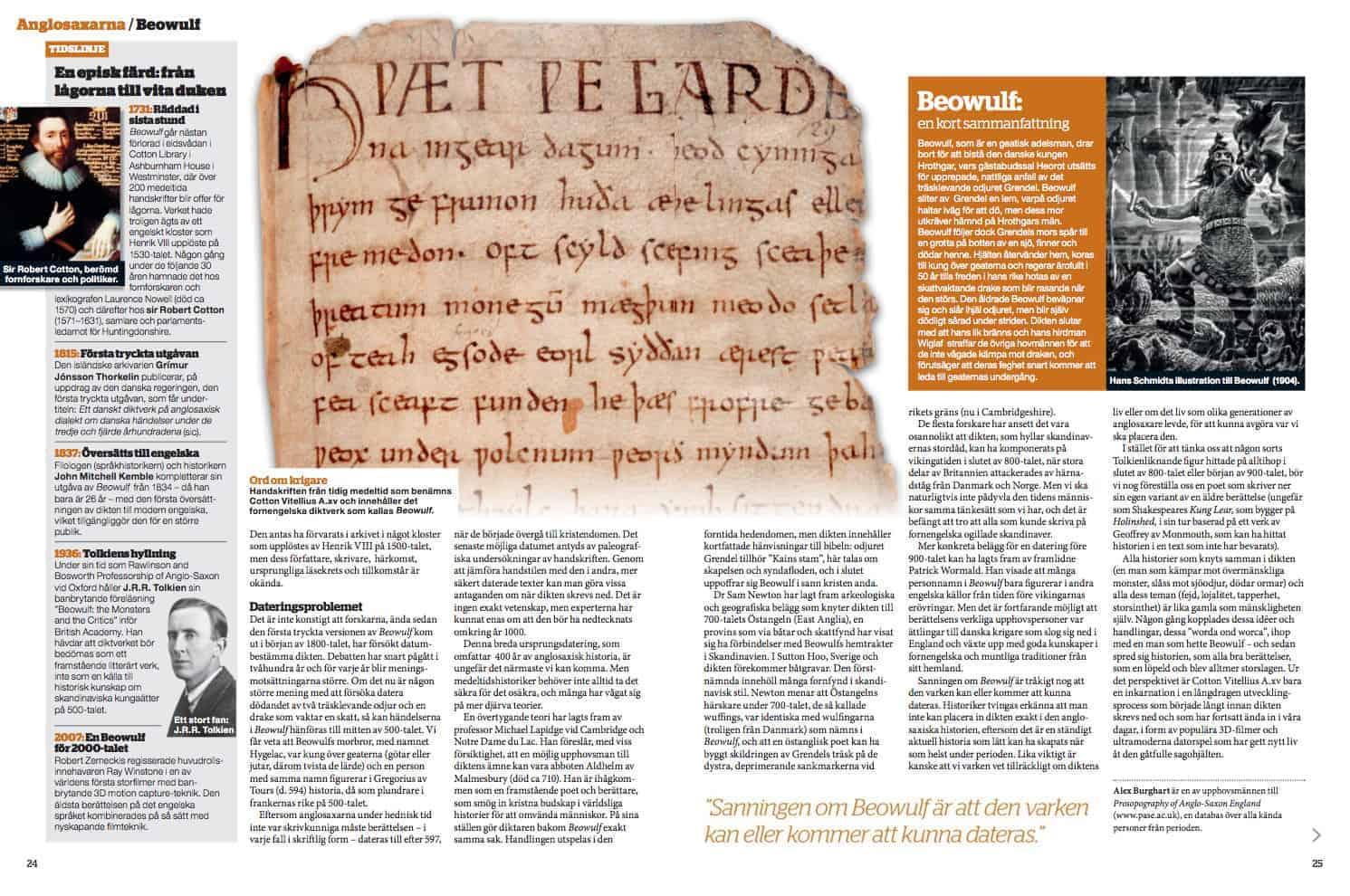 Beowulf, uppslag