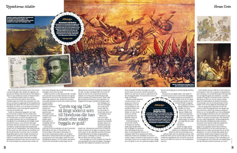 Hernán Cortés, uppslag