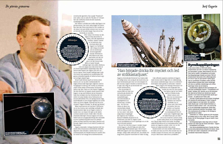 Jurij Gagarin, uppslag