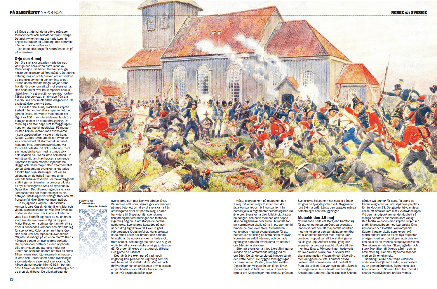 Norge mot Sverige 1808, uppslag