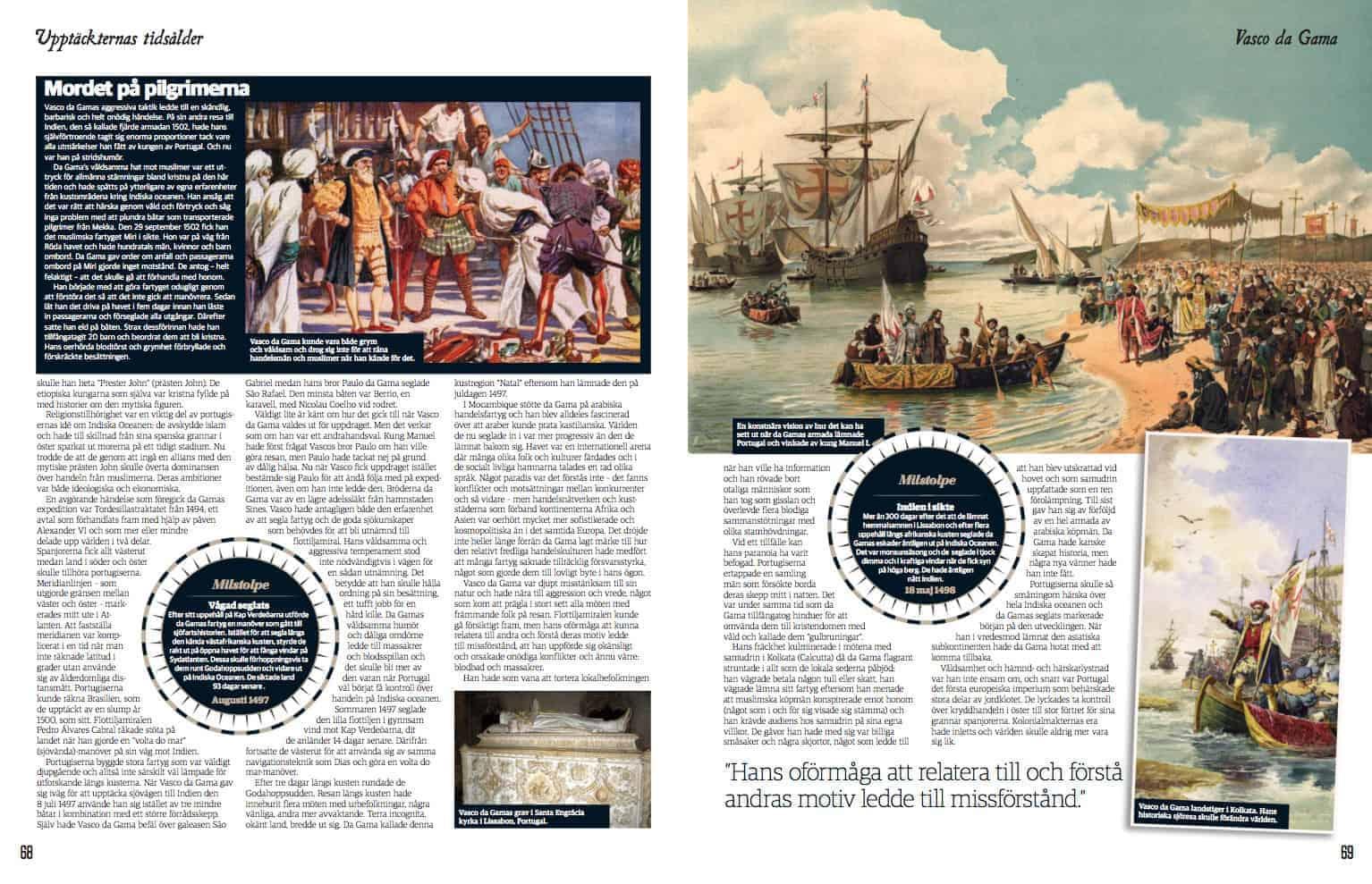 Vasco da Gama, uppslag